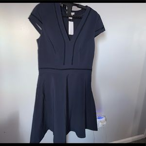 H&M Blue A-Line Dress (8)